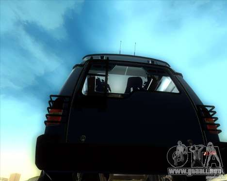 Landrover Discovery 2 Rally Raid para GTA San Andreas vista posterior izquierda