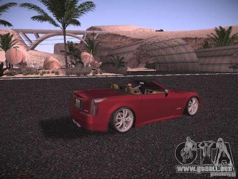 Cadillac XLR 2006 para GTA San Andreas vista posterior izquierda
