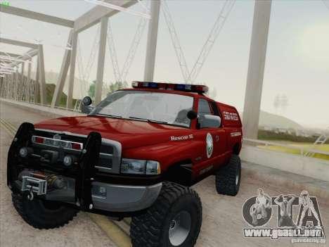Dodge Ram 3500 Search & Rescue para GTA San Andreas interior