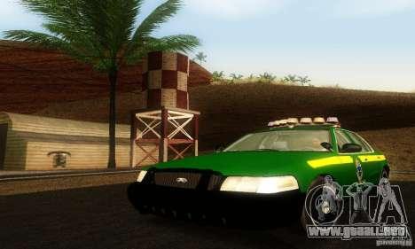 Ford Crown Victoria Vermont Police para GTA San Andreas