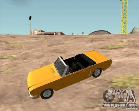 Ford Mustang 289 1964 para la visión correcta GTA San Andreas
