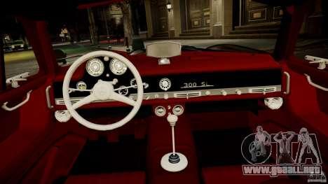Mercedes-Benz 300 SL Gullwing para GTA 4 vista interior