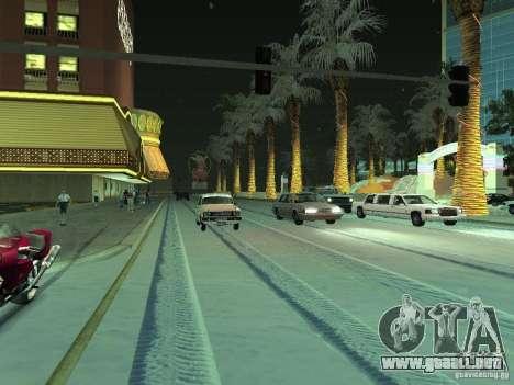 Nieve v 2.0 para GTA San Andreas segunda pantalla