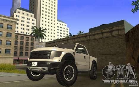 Ford F150 SVT RapTor para GTA San Andreas vista posterior izquierda