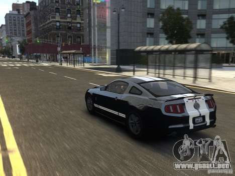 Ford Shelby GT500 2010 WIP para GTA 4 vista interior