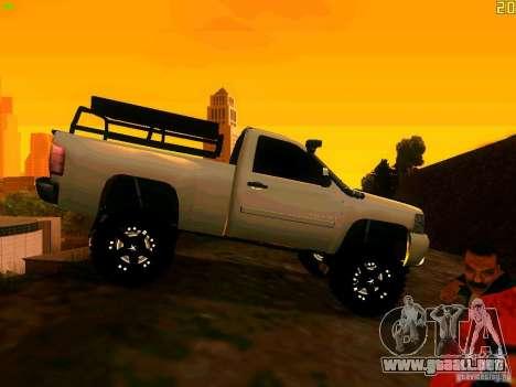 Chevrolet Silverado Final para la visión correcta GTA San Andreas