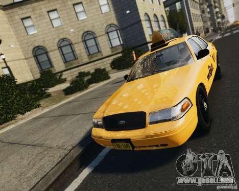 Ford Crown Victoria NYC Taxi 2012 para GTA 4 vista hacia atrás