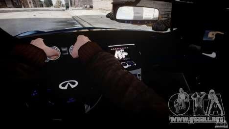 Infiniti G37 Coupe Sport para GTA 4 vista lateral