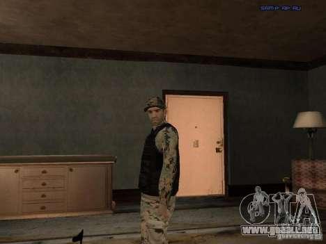 Army Soldier Skin para GTA San Andreas sexta pantalla