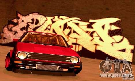 Volkswagen Golf MkII Racing para GTA San Andreas vista posterior izquierda