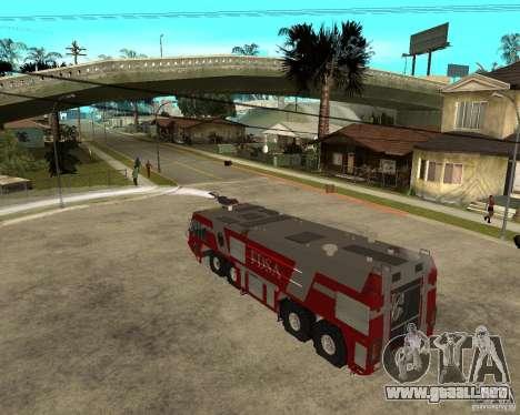 Rosenbauer Simba 8x8 GFLF FDSA para visión interna GTA San Andreas