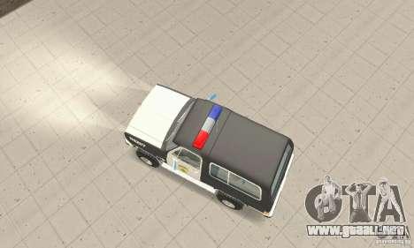 Chevrolet Blazer Sheriff Edition para la visión correcta GTA San Andreas