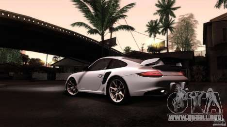 Porsche 911 GT2 RS 2012 para vista lateral GTA San Andreas