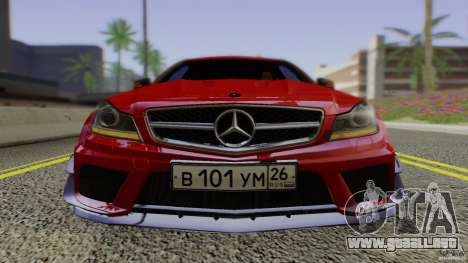 Mercedes Benz C63 AMG Black Series 2012 para visión interna GTA San Andreas