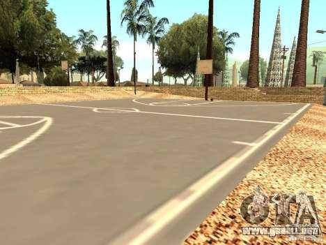 La nueva cancha de baloncesto en Los Santos para GTA San Andreas tercera pantalla