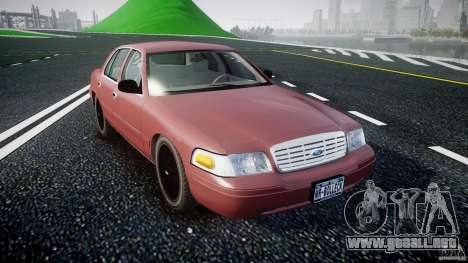 Ford Crown Victoria 2003 v.2 Civil para GTA 4 vista hacia atrás
