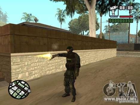 Comando de los SWAT 4 para GTA San Andreas sucesivamente de pantalla