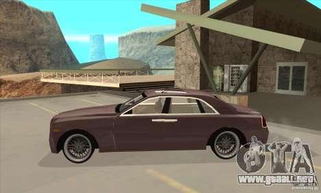 Rolls-Royce Ghost 2010 para GTA San Andreas left