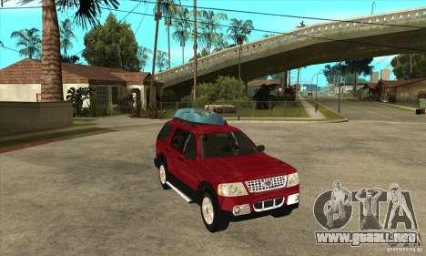 Ford Explorer 2004 para GTA San Andreas vista hacia atrás