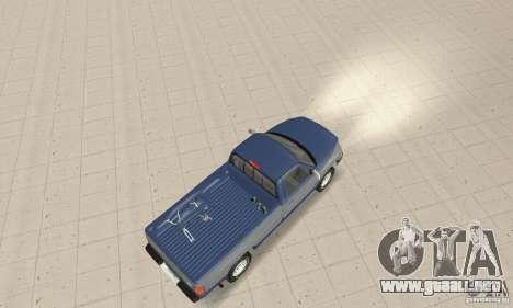 Dodge Ram 2500 1994 para GTA San Andreas vista posterior izquierda
