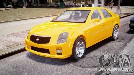 Cadillac CTS Taxi para GTA 4 vista hacia atrás