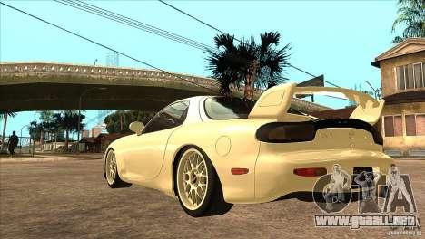 Mazda RX7 FD3S Type-R Bathurst para GTA San Andreas vista posterior izquierda