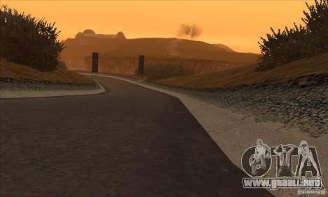La ruta de NFS Prostreet para GTA San Andreas sucesivamente de pantalla