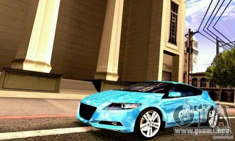 Honda CR-Z 2010 V2.0 para visión interna GTA San Andreas