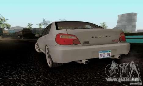 Subaru Impreza WRX STi TUNEABLE para GTA San Andreas left