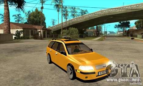 Volvo V40 para GTA San Andreas vista hacia atrás