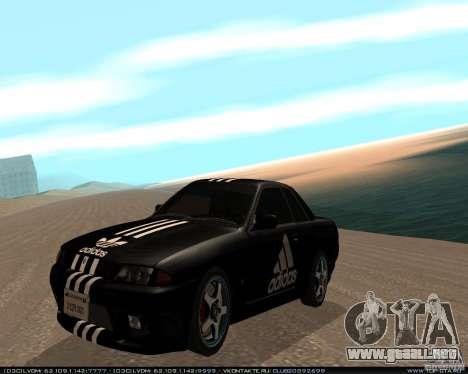 Nissan Skyline R32 GT-R + vinilo 3 para GTA San Andreas left