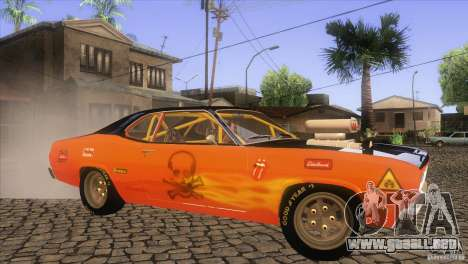 Plymouth Duster 440 para la vista superior GTA San Andreas