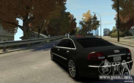 Audi A8 L 6.0 Quattro (Transporter 3) para GTA 4 vista hacia atrás