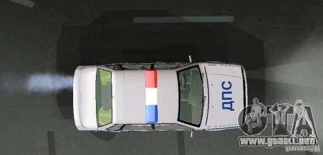 VAZ 2115 policía DPS para vista lateral GTA San Andreas