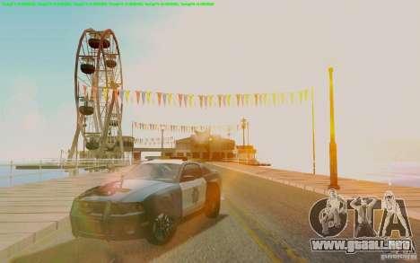 Ford Shelby Mustang GT500 Civilians Cop Cars para GTA San Andreas vista hacia atrás