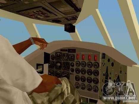 B-58 Hustler para visión interna GTA San Andreas