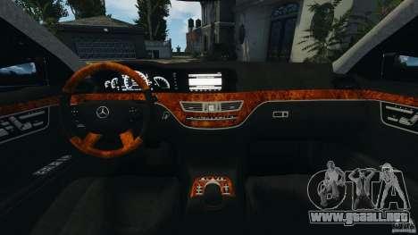 Mercedes-Benz S W221 Wald Black Bison Edition para GTA 4 vista hacia atrás
