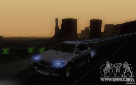 BMW M5 2012 para visión interna GTA San Andreas