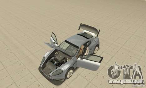 Aston Martin DBR9 (v1.0.0) para GTA San Andreas vista hacia atrás