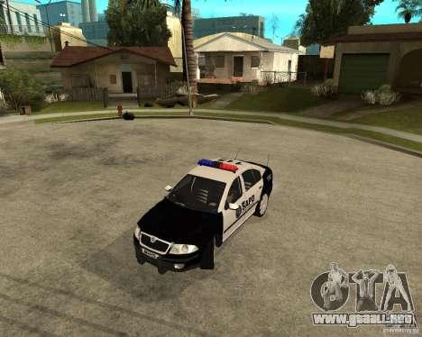 Skoda Octavia II 2005 SAPD POLICE para GTA San Andreas left