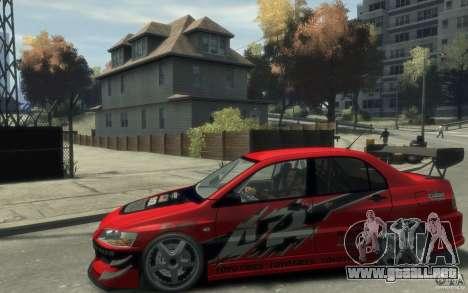 Mitsubishi Lancer para GTA 4 left