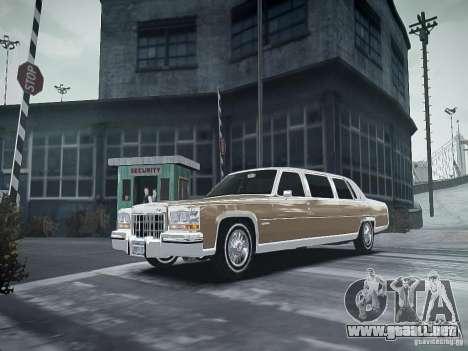Cadillac Fleetwood 1985 para GTA 4 vista hacia atrás