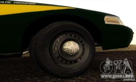 Ford Crown Victoria Indiana Police para la visión correcta GTA San Andreas