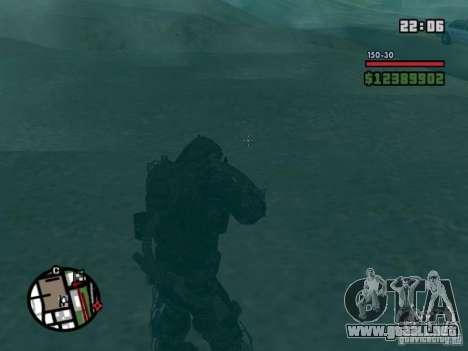 Acosador militar en èkzoskelete para GTA San Andreas sucesivamente de pantalla