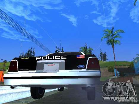Ford Crown Victoria LTD 1992 LSPD para la visión correcta GTA San Andreas