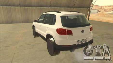 Volkswagen Tiguan 2012 v2.0 para GTA San Andreas vista posterior izquierda