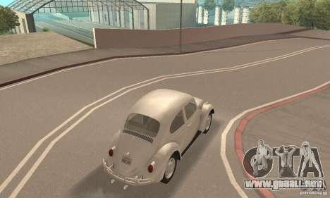 Volkswagen Beetle 1963 para visión interna GTA San Andreas