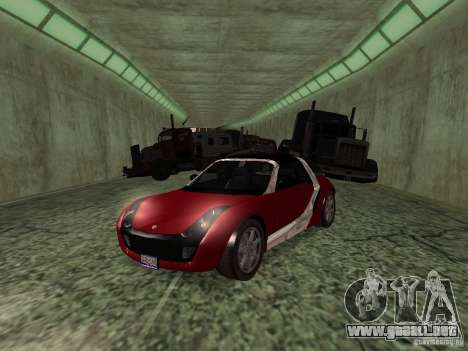 Smart Roadster Coupe para GTA San Andreas vista hacia atrás