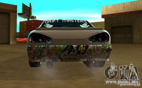 Elegy Drift Masters Final para GTA San Andreas vista posterior izquierda