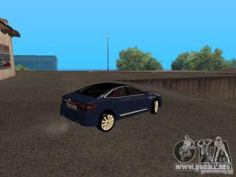 Hyundai Azera 2012 para la visión correcta GTA San Andreas